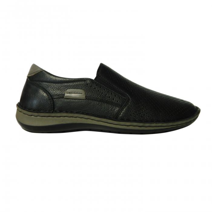 Pantofi casual pentru barbati din piele naturala, Florida, Dr. Jells, Negru, 43 EU [0]