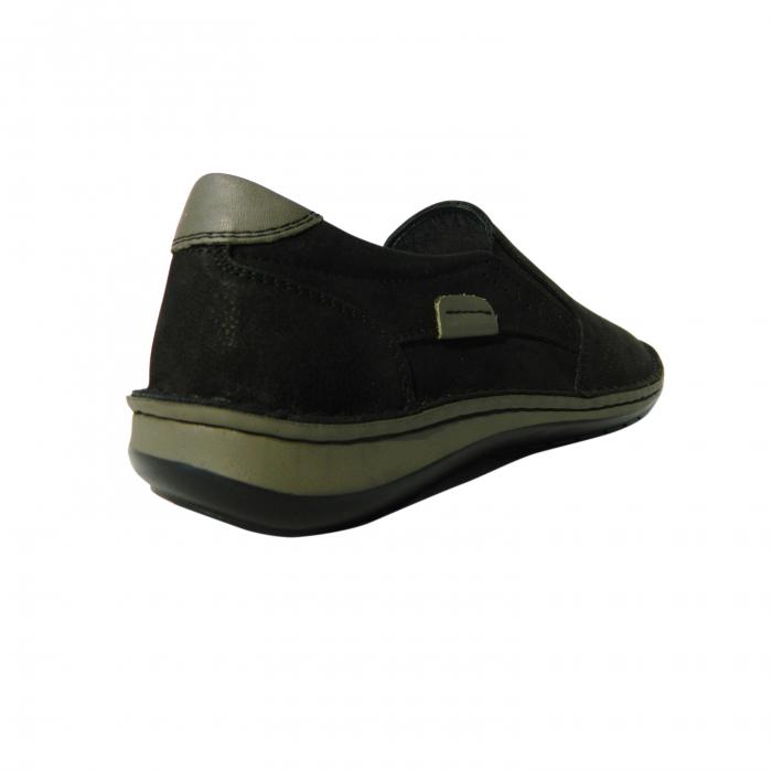 Pantofi casual pentru barbati din piele naturala, Florida, Dr. Jells, Negru nabuc, 43 EU 1