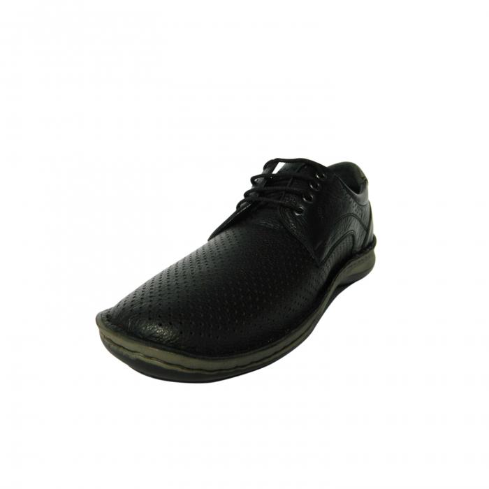 Pantofi casual pentru barbati din piele naturala, Safari, Dr. Jells, Negru, 40 EU 2