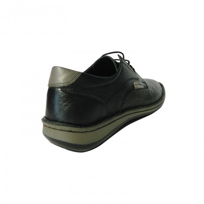 Pantofi casual pentru barbati din piele naturala, Safari, Dr. Jells, Negru, 40 EU 1