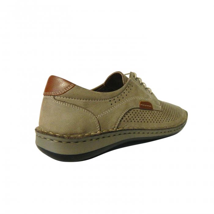 Pantofi casual pentru barbati din piele naturala, Sane, Dr. Jells, Crem, 42 EU [1]