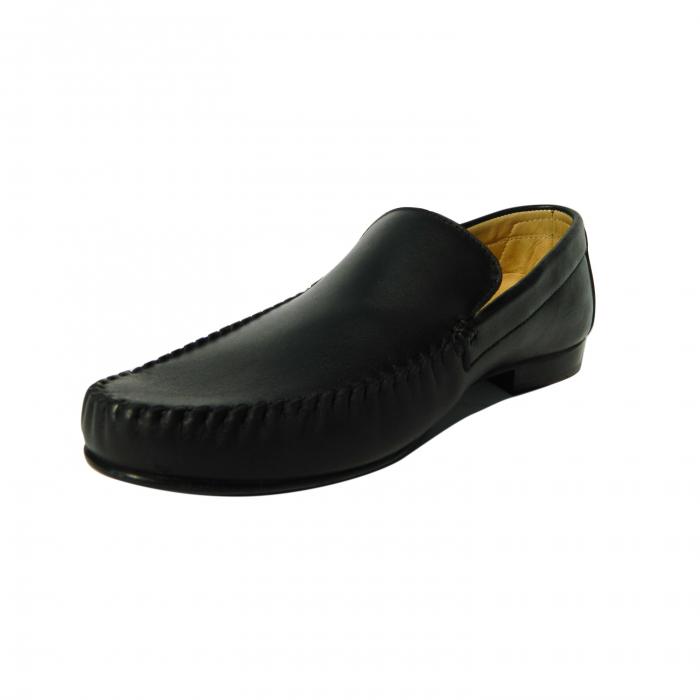 Pantofi casual pentru barbati din piele naturala, Severio, Gitanos, Negru, 43 EU 2