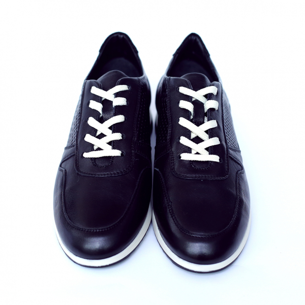 Pantofi dama din piele naturala cu model, Naty, Peter, Negru, 35 EU [1]