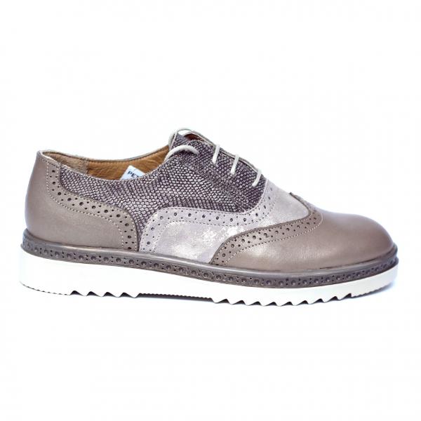 Pantofi dama din piele naturala, CZR, Peter, Bej, 37 EU 0