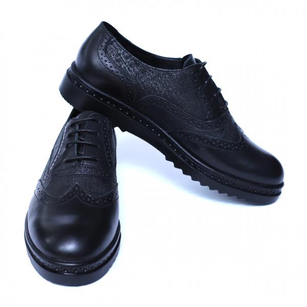 Pantofi dama din piele naturala, CZR, Peter, Negru, 40 EU [2]