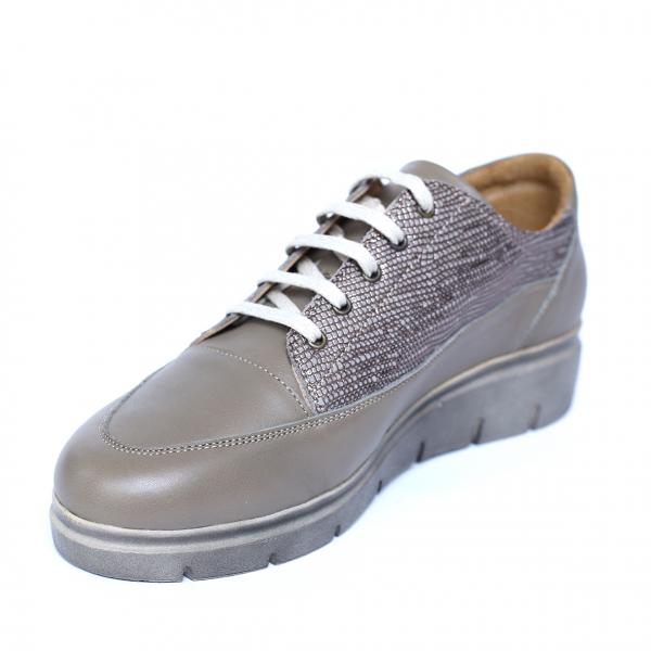 Pantofi dama din piele naturala, MIO, Peter, Bej, 38 EU 0