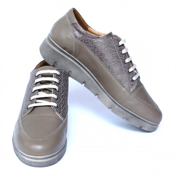 Pantofi dama din piele naturala, MIO, Peter, Bej, 38 EU 2