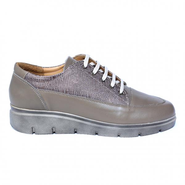 Pantofi dama din piele naturala, MIO, Peter, Bej, 38 EU 3