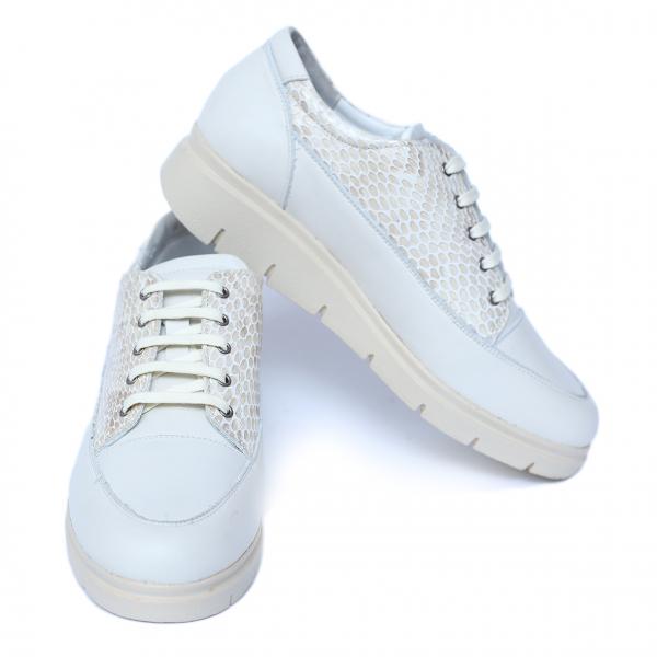 Pantofi dama din piele naturala, MIO, Peter, Alb, 41 EU [2]