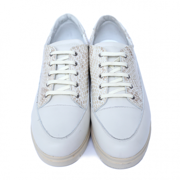 Pantofi dama din piele naturala, MIO, Peter, Alb, 41 EU [1]