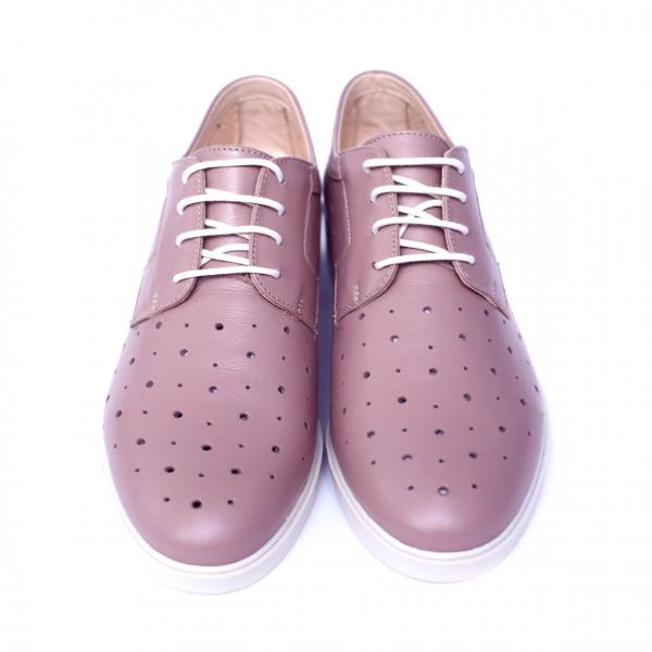 Pantofi dama din piele naturala, Fabia, Peter, Roz, 40 EU 6