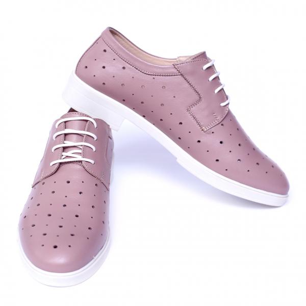 Pantofi dama din piele naturala, Fabia, Peter, Roz, 40 EU 5