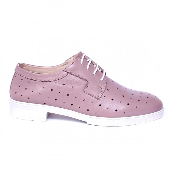 Pantofi dama din piele naturala, Fabia, Peter, Roz, 40 EU 7