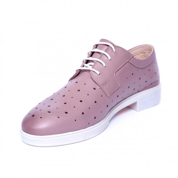 Pantofi dama din piele naturala, Fabia, Peter, Roz, 40 EU 4