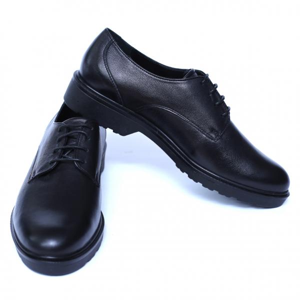 Pantofi dama din piele naturala, AML, Peter, Negru, 37 EU [6]