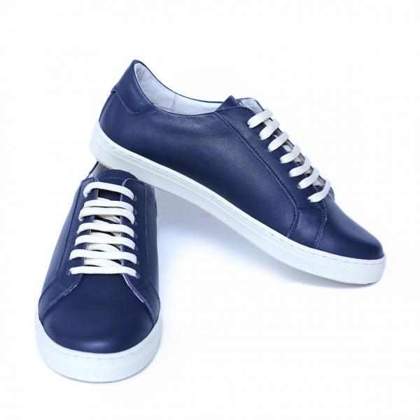 Pantofi dama din piele naturala, Verona, Peter, Albastru, 41 EU 4