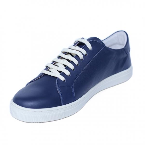 Pantofi dama din piele naturala, Verona, Peter, Albastru, 41 EU 3