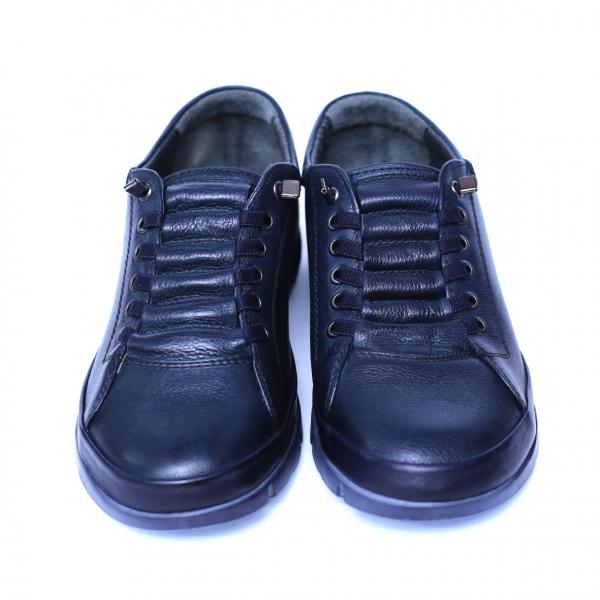 Pantofi dama din piele naturala, Snk, Goretti, Albastru, 39 EU [2]