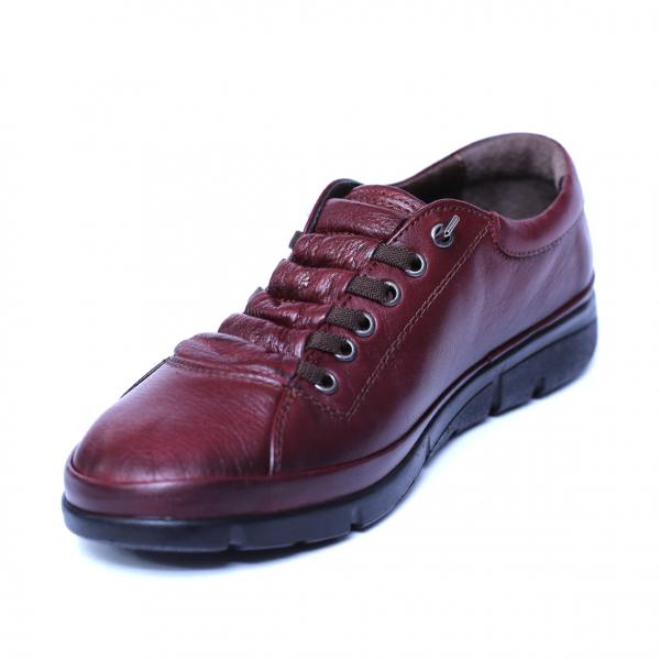 Pantofi dama din piele naturala, Snk, Goretti, Bordeaux, 37 EU 4