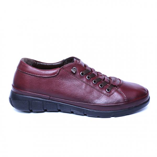 Pantofi dama din piele naturala, Snk, Goretti, Bordeaux, 37 EU 7