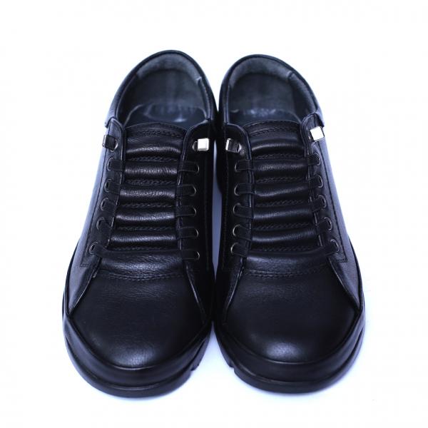 Pantofi dama din piele naturala, Snk, Goretti, Negru, 36 EU 5