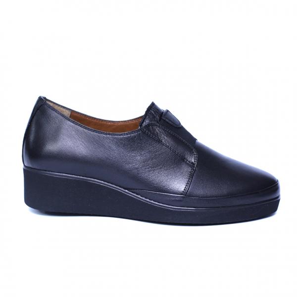 Pantofi dama din piele naturala, Sina, Anna Viotti, Negru, 41 EU 7