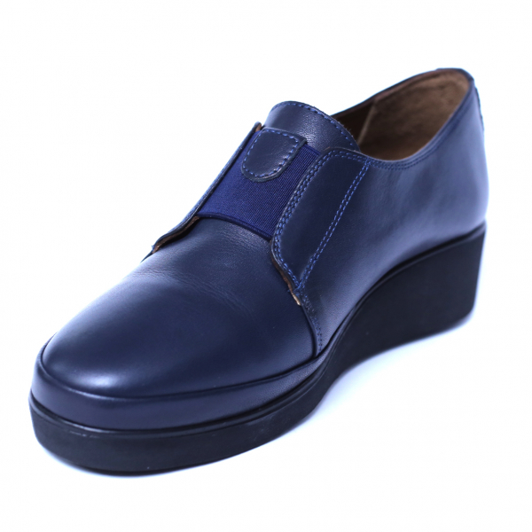 Pantofi dama din piele naturala, Sina, Anna Viotti, Albastru, 38 EU [4]