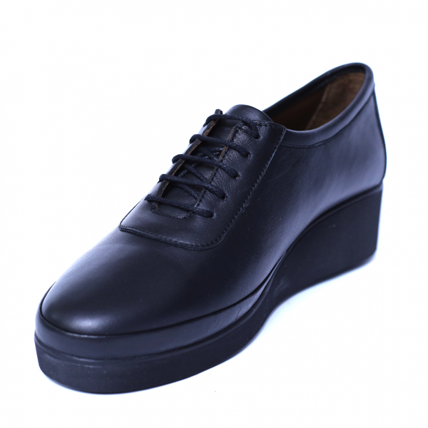 Pantofi dama din piele naturala, Sarabia, Anna Viotti, Negru, 40 EU [4]
