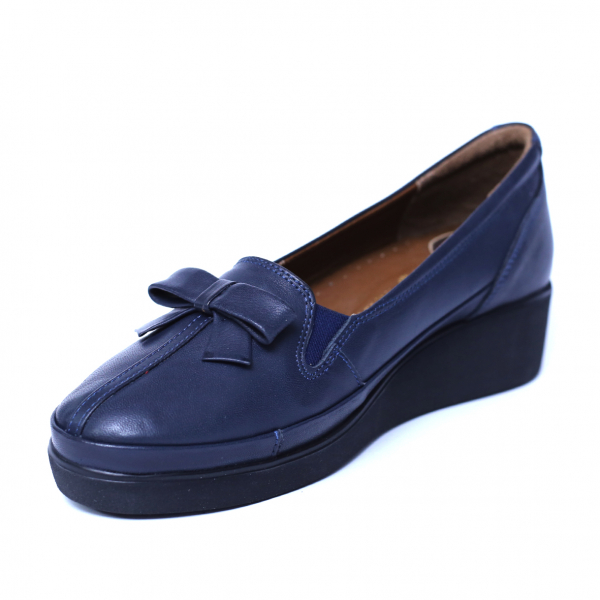 Pantofi dama din piele naturala, Butterfly, Anna Viotti, Albastru, 37 EU 4