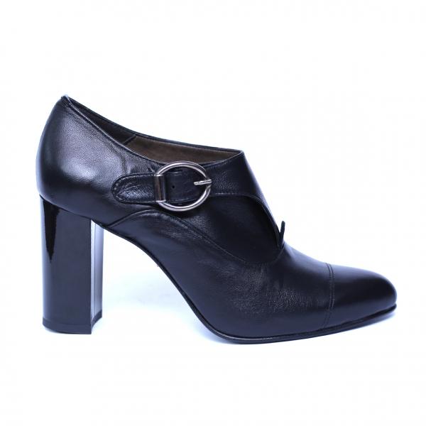 Pantofi dama din piele naturala, Meunier, Nist, Negru, 36 EU 7