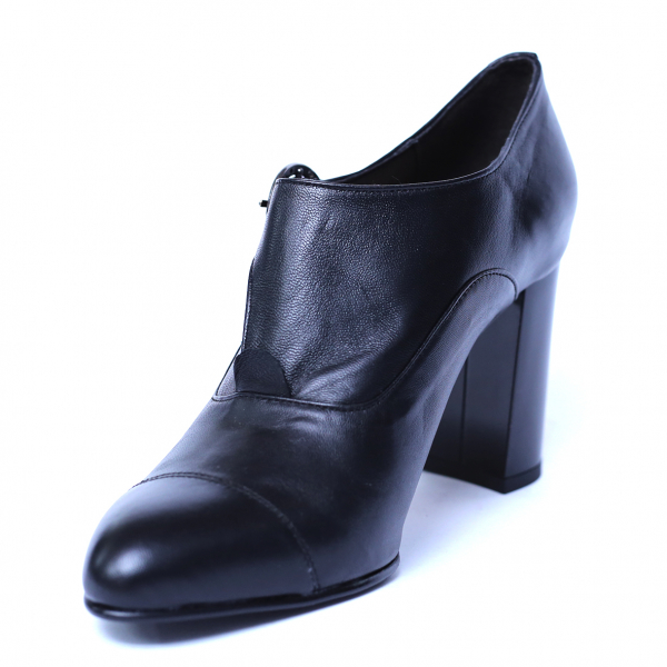Pantofi dama din piele naturala, Meunier, Nist, Negru, 36 EU 4