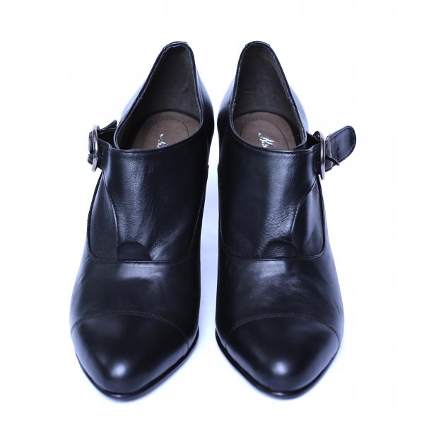 Pantofi dama din piele naturala, Meunier, Nist, Negru, 36 EU 5