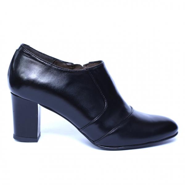 Pantofi dama din piele naturala, Venus, Nist, Negru, 38 EU [3]