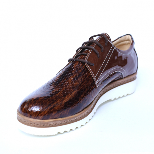 Pantofi dama din piele naturala, Cameleon, Alexin, Maro, 38 EU [4]