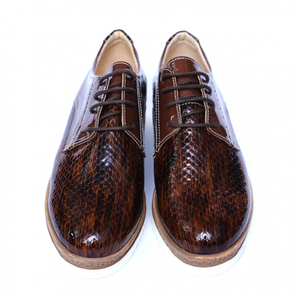 Pantofi dama din piele naturala, Cameleon, Alexin, Maro, 38 EU [6]