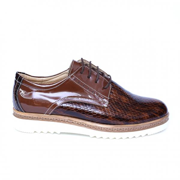 Pantofi dama din piele naturala, Cameleon, Alexin, Maro, 41 EU 7