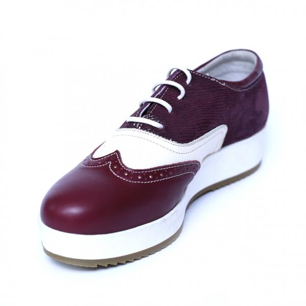 Pantofi dama din piele, Joe, Cobra, Bordeaux, 39 EU 3