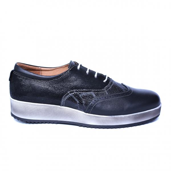 Pantofi dama din piele naturala, Joe, Cobra, Negru, 39 EU 7