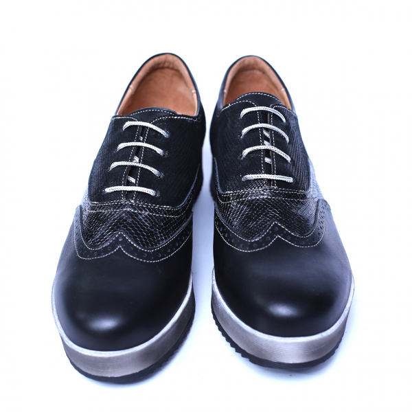Pantofi dama din piele naturala, Joe, Cobra, Negru, 39 EU 6