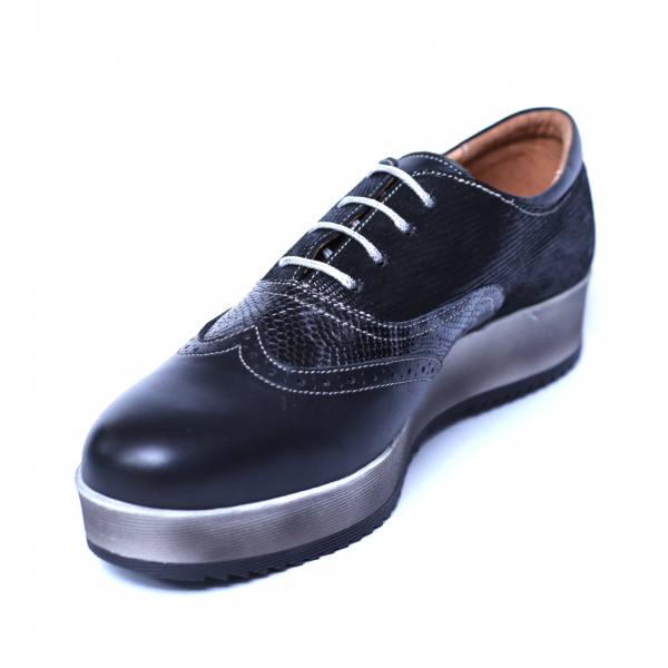 Pantofi dama din piele naturala, Joe, Cobra, Negru, 39 EU 4