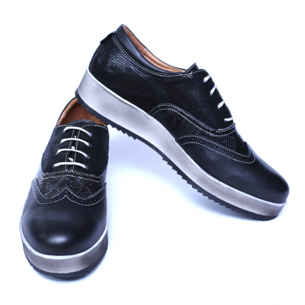 Pantofi dama din piele naturala, Joe, Cobra, Negru, 39 EU 5