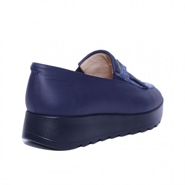 Pantofi dama din piele naturala, Nicole, PETER, Albastru, 37 EU 2