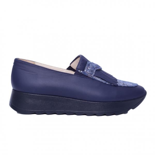 Pantofi dama din piele naturala, Nicole, PETER, Albastru, 37 EU 1