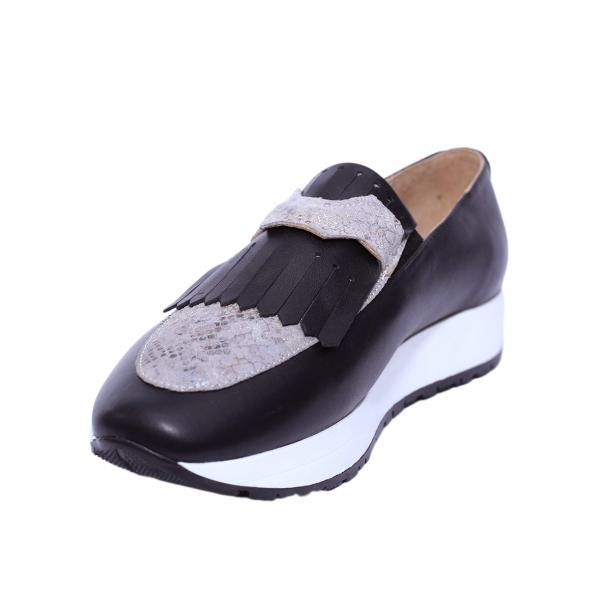 Pantofi dama din piele naturala, Nicole, PETER, Negru, 36 EU 0