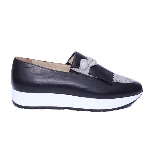 Pantofi dama din piele naturala, Nicole, PETER, Negru, 36 EU 2