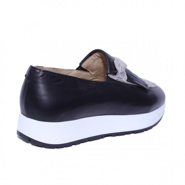 Pantofi dama din piele naturala, Nicole, PETER, Negru, 36 EU 1