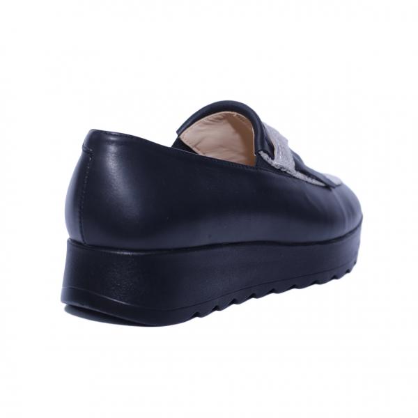 Pantofi dama din piele naturala, Nicole Villa, PETER, Negru, 37 EU 1