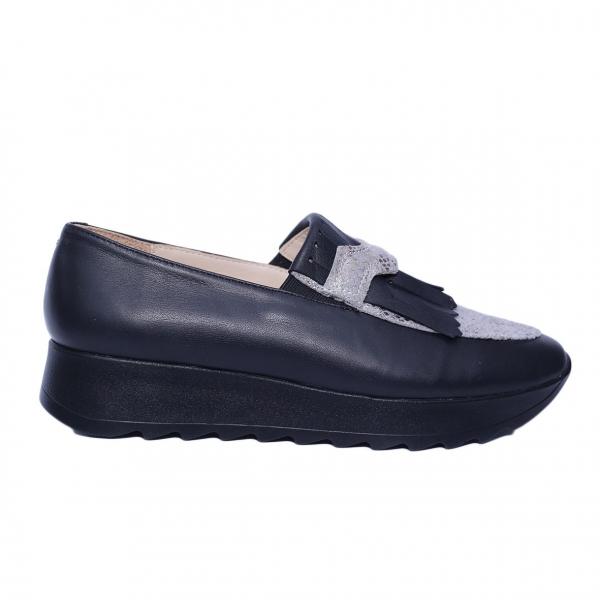 Pantofi dama din piele naturala, Nicole Villa, PETER, Negru, 37 EU 2