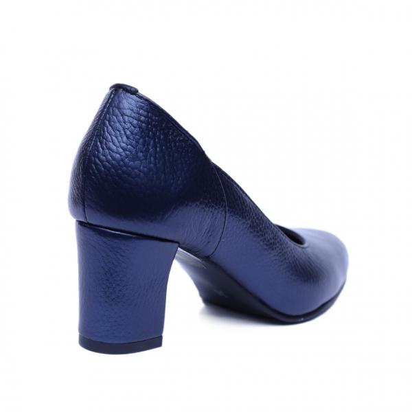 Pantofi dama din piele naturala, Diana, Nist, Albastru, 36 EU 2