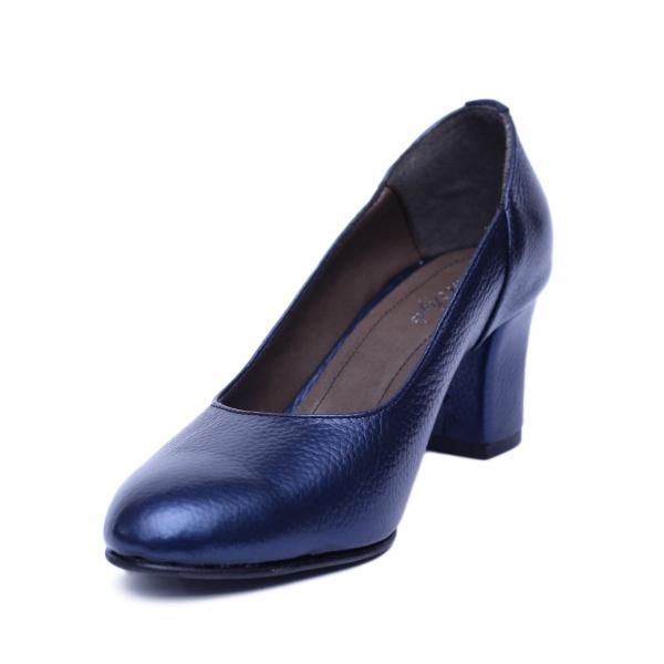 Pantofi dama din piele naturala, Diana, Nist, Albastru, 36 EU 1